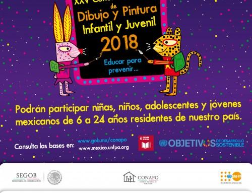 BASES PARA EL XXV CONCURSO NACIONAL NACIONAL DE DIBUJO Y PINTURA INFANTIL Y JUVENIL 2018